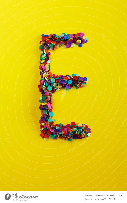 Yellow Art Esthetic Nutrition Simple Letters (alphabet) Many Typography Work of art Confetti Gaudy Mosaic