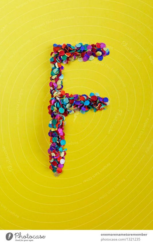 f Art Work of art Esthetic Vacation & Travel Woman Colour Joy Freedom Facade Feminine Letters (alphabet) Typography Yellow Confetti Many Mosaic Colour photo