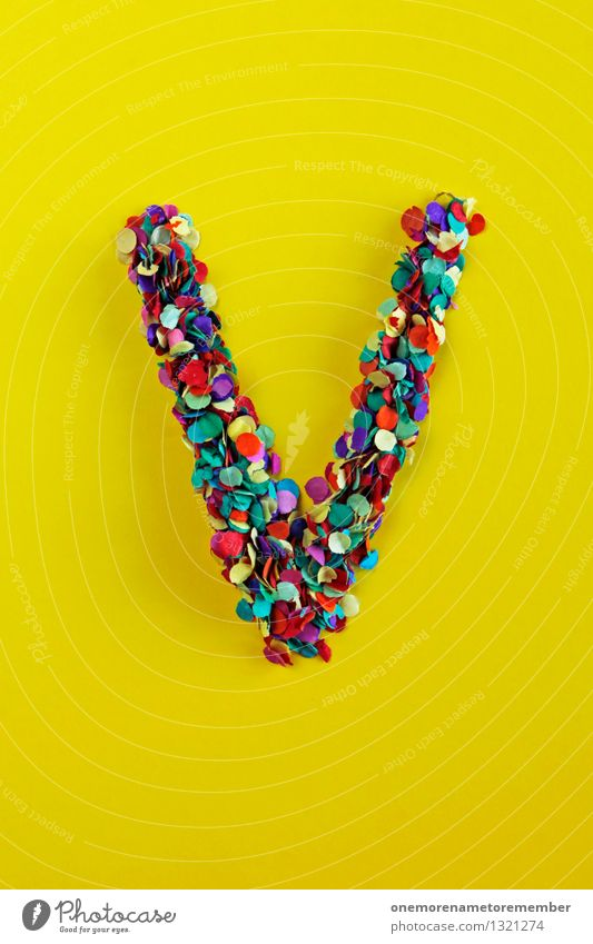 Yellow Art Design Crazy Esthetic Creativity Letters (alphabet) Many Event Anticipation Handicraft Work of art Confetti Fashioned Design studio Design museum