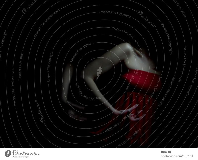 dancing in the dark III Red Dark Hand Woman 3 Movement Swing Posture Shoulder Esthetic Vertical Beautiful Feminine Light Elegant Mysterious Dance Long exposure
