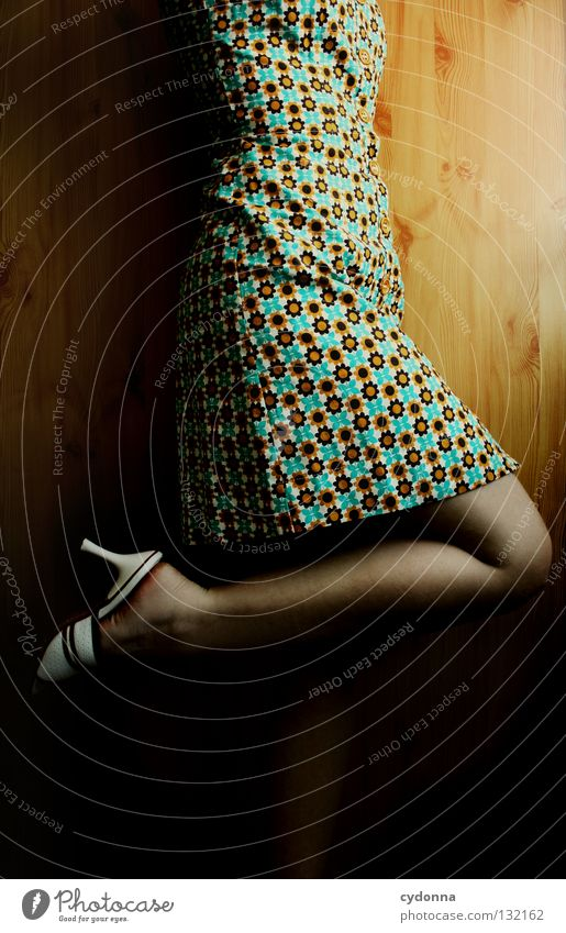Woman Human being Beautiful Flower Colour Life Wall (building) Emotions Wood Hair and hairstyles Movement Style Think Earth Legs Fashion