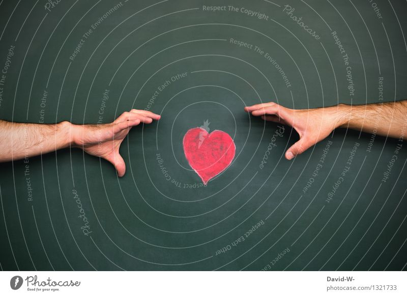 Human being Man Hand Eroticism Adults Life Sadness Love Emotions To talk Art Dream Masculine Heart Target To hold on
