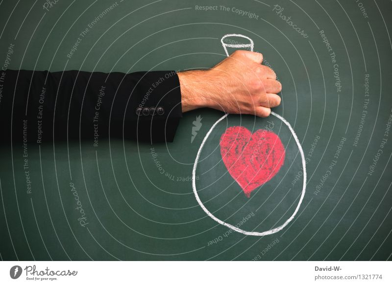 token of love handed over Love Warmest congratulations Sincere Kind regards Surprise Gift Donate Heart Heart-shaped Blackboard Chalk Drawing creatively by hand
