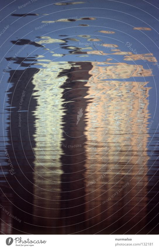 Inconspicuous II Mirror High-rise Reflection Building Surface Waves Virtual Decent Mirror image Inaccurate Smoothness Metal Beautiful Calm Under Stripe Potsdam