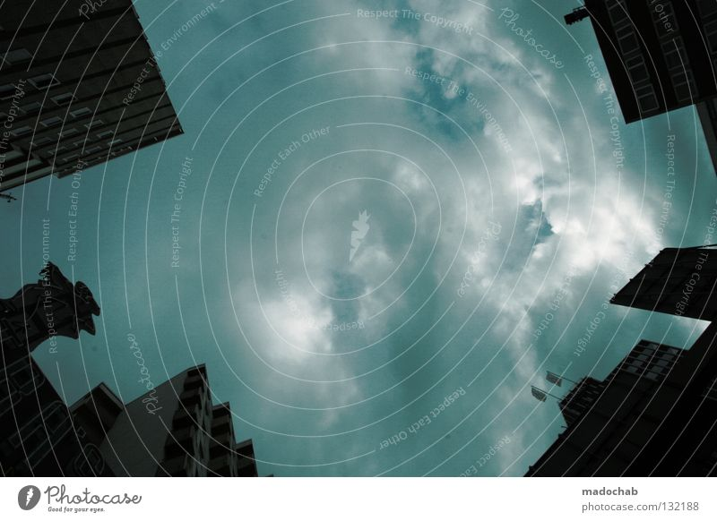 Sky City House (Residential Structure) Clouds Dark Building Fear Weather Large High-rise Force Facade Might Threat Gale