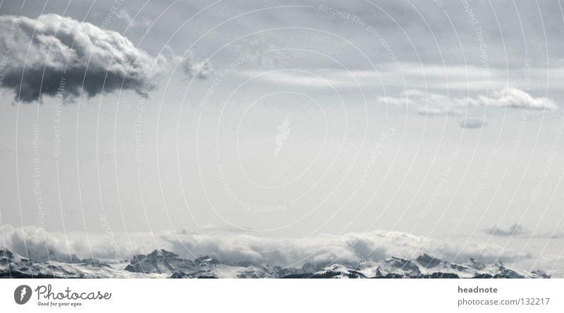 Sky Sun Clouds Mountain Snow Gray Vantage point Rescue