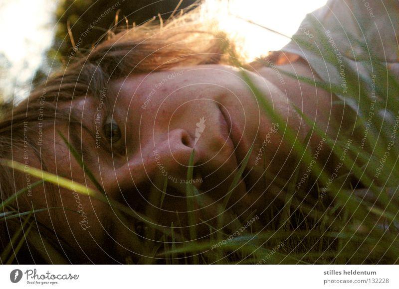 where is my mind? Summer Grass Meadow Emotions Calm New start Grief Distress Fear Panic inward Beginning Irritation