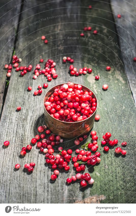 Cranberries in a bowl Fruit Eating Diet Bowl Table Kitchen Nature Autumn Fresh Bright Natural Juicy Red cranberry wooden cranberries ripe background food