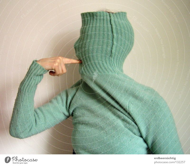 The k...! Meaning Gesture Facial expression Sweater Wall (building) Roll-necked sweater Closed Als Situation Protest Things Media Desire Evident Authentic
