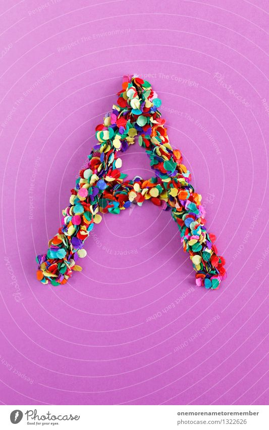 A Art Work of art Esthetic Alphabetical Latin alphabet Letters (alphabet) Typography Creativity Design Idea Confetti Many Point Colour photo Multicoloured