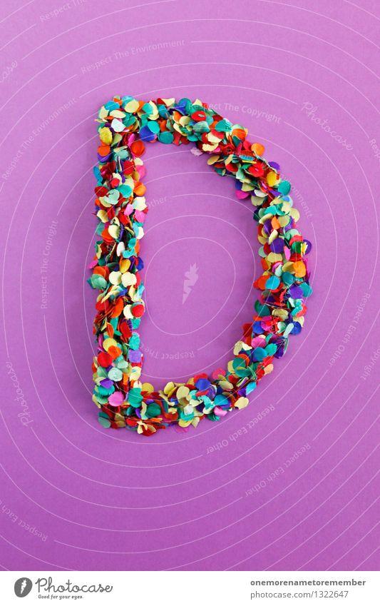d Art Esthetic D Letters (alphabet) Typography Alphabetical Violet Confetti Multicoloured Point Mosaic Design Creativity Design studio Design museum Idea