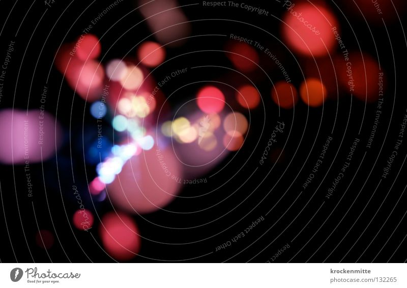 Blue Red Colour Lamp Pink Circle Point Way out Night life Fairy lights