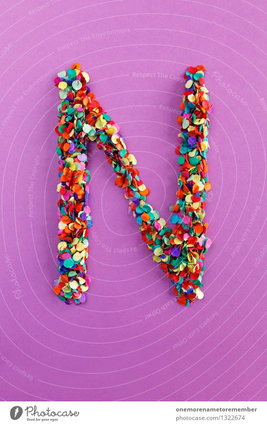 n Art Work of art Esthetic N Letters (alphabet) Alphabetical Typography Many Point Mosaic Creativity Design Idea Confetti Colour photo Multicoloured