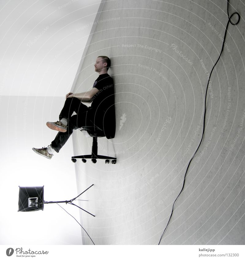 Human being Man White Wall (building) Hair and hairstyles Office Lamp Business Lighting Work and employment Room Exceptional Sit Wait Electricity