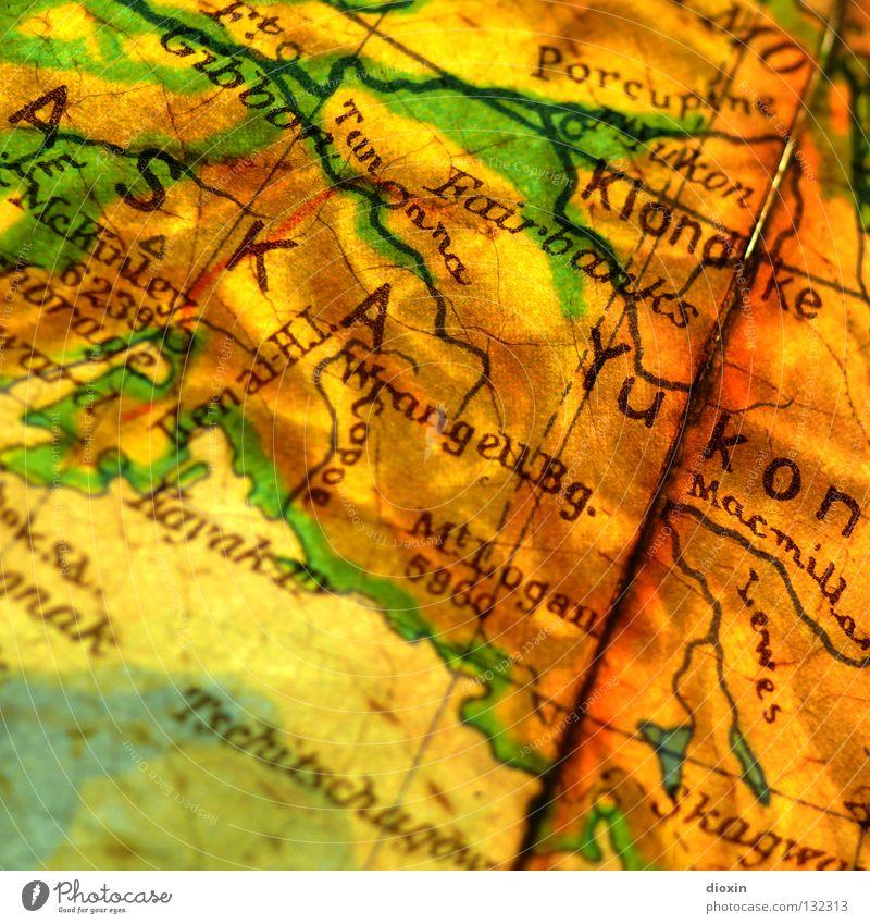 Gold Geography Globe Map Global North America British Columbia Alaska Gold bar Arctic circle Yukon Goldrush Klondike Gold prospecting Fairbanks
