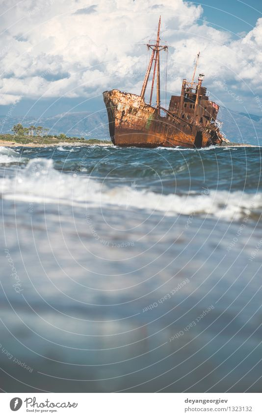 old rustic big ship ocean
