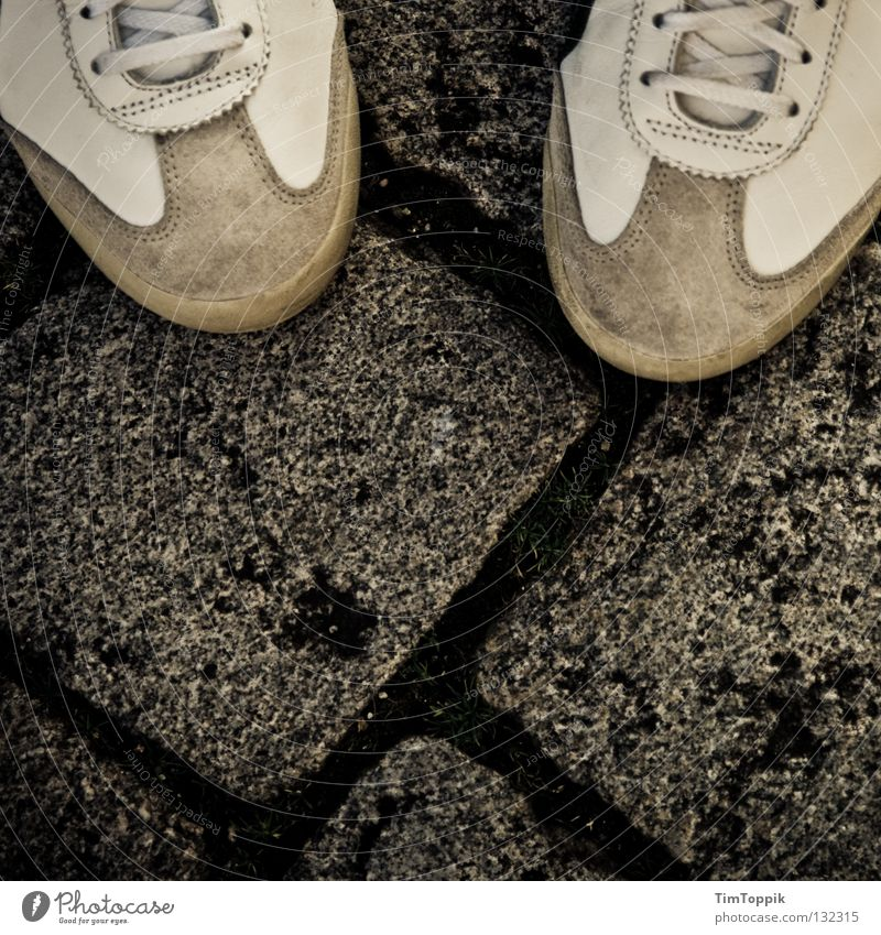 Street Lanes & trails Footwear Going Clothing Stand Cobblestones Leather Sneakers Paving stone