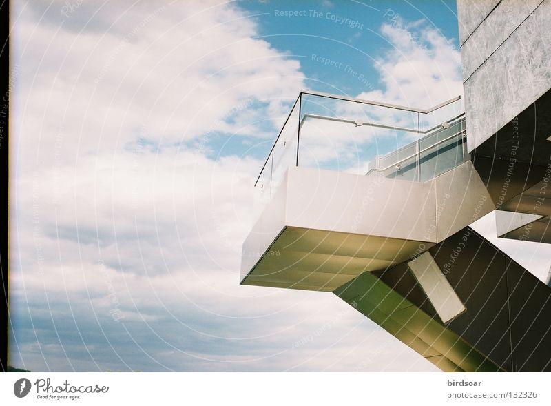 purpose? Sky Modern Building Platform River Bridge prom Clouds magic Film industry