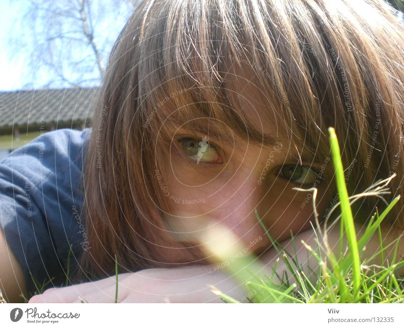 Woman Youth (Young adults) Face Grass Think Warmth Graffiti Empty Lawn Lie Physics Thought Expressionless Snapshot