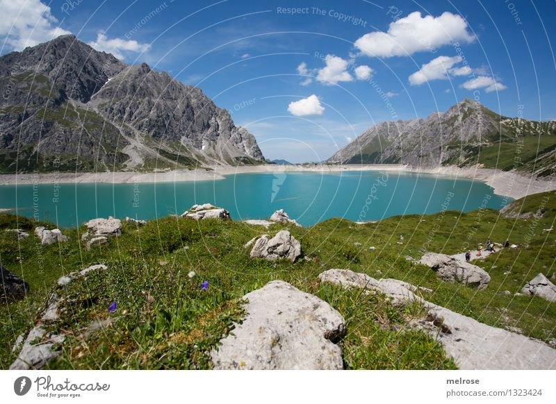 Sky Nature Vacation & Travel Blue Green Beautiful Summer Water Relaxation Landscape Calm Clouds Mountain Lake Tourism Hiking