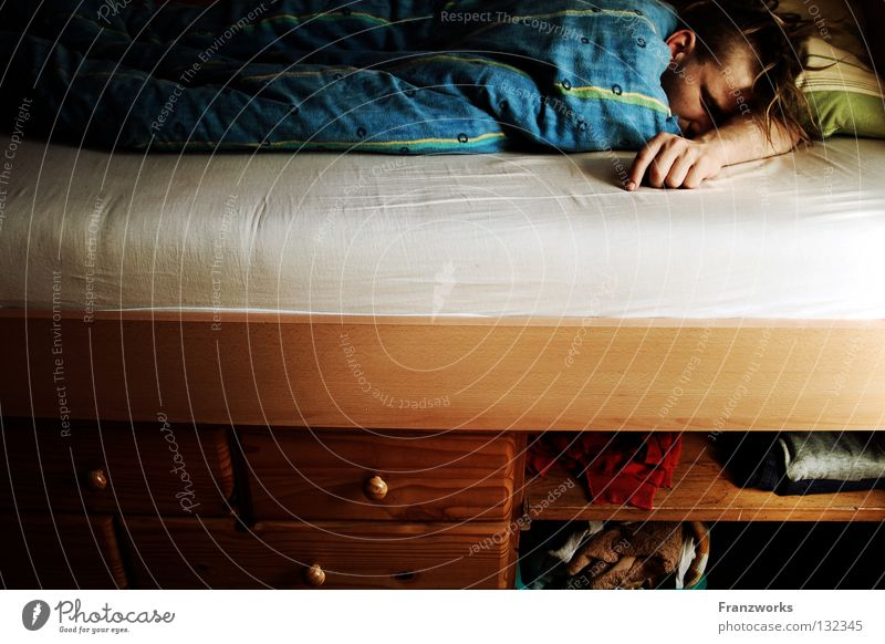 Man Calm Relaxation Warmth Clothing Sleep Bed Broken Lie Physics Fatigue Guy Cozy Blanket Cuddly Motionless