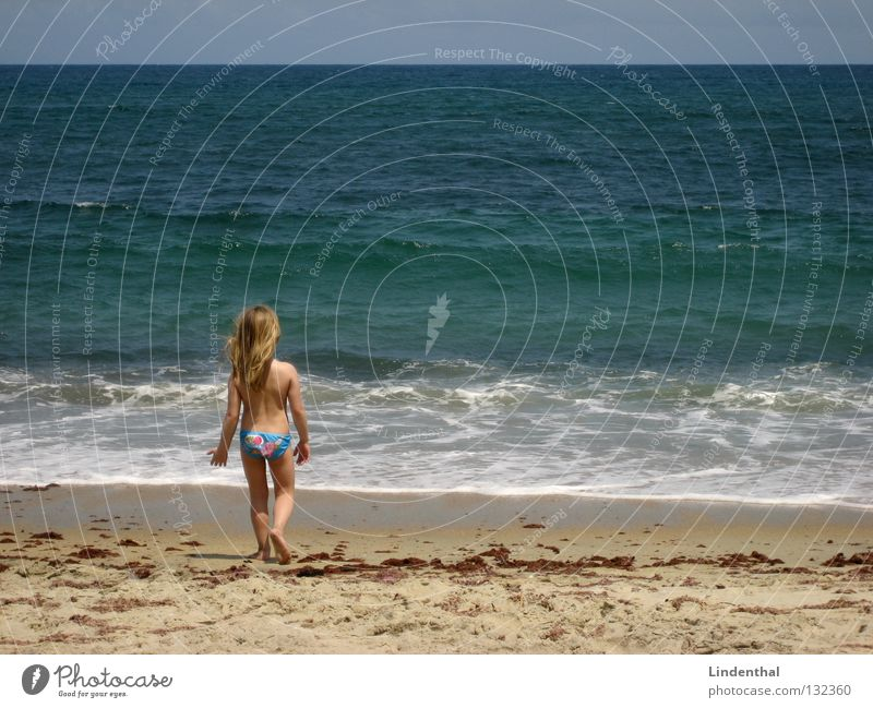 Fantastic Sea IV Ocean Cliff Foam Looking Girl Child Crouch Beach Coast Perspective Marvel Enthusiasm spellbound