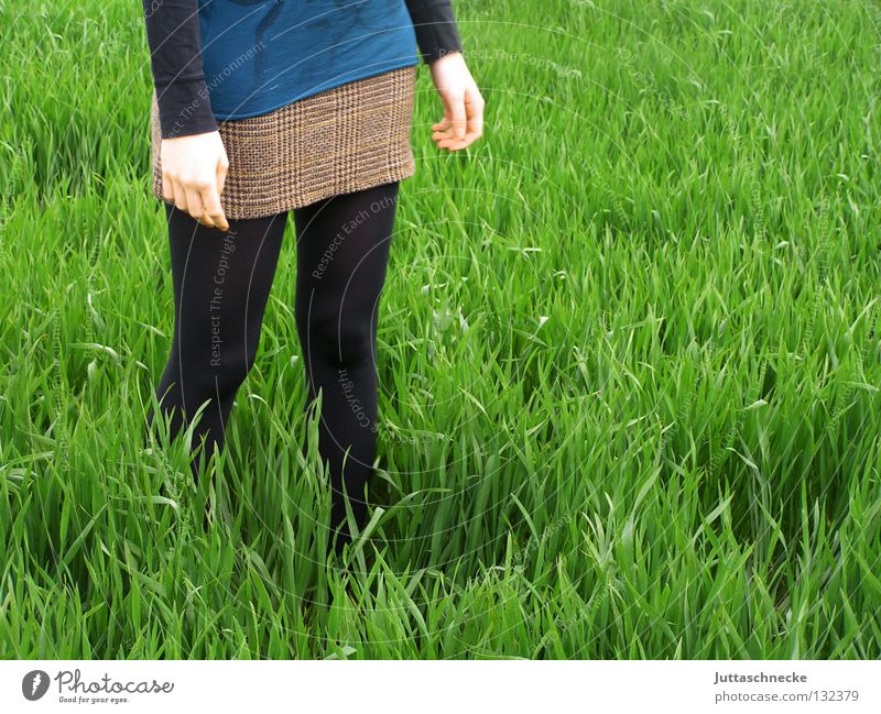arable crops Black Peace Woman Doomed Green Grass Meadow Field Going Canola Mini skirt Across Stand Rooted Spring Power Force Peaceful Juttas snail tall grass