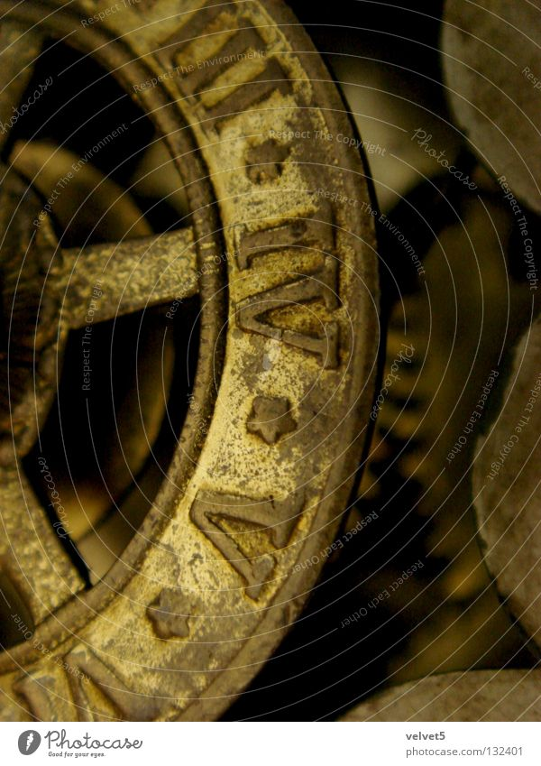 clock Yellow Tilt-Shift Industry hours five three four pulley work machinery device gear mechanism mechanical watch