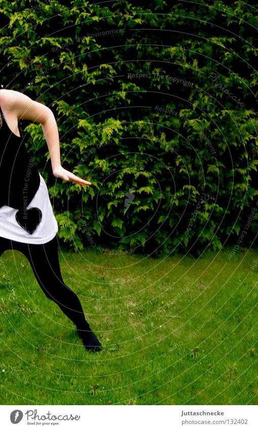 Woman White Green Summer Black Grass Spring Lanes & trails Legs Dance Heart Fear Arm Going Walking Running