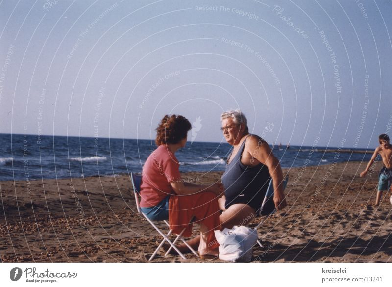 Picnic at the beach Vacation & Travel Beach Group Water Couple Human being
