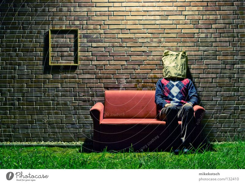 Meadow Wall (barrier) Lamp Sit Intoxicant Brick Sofa Frame Sweater Checkered Paper bag Feeble Picture frame