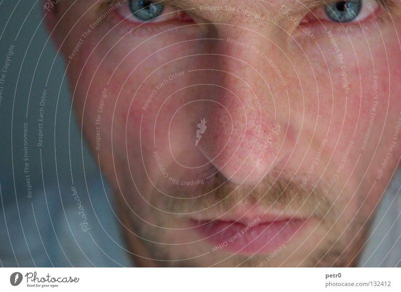 pore depth Man Close-up Portrait photograph Pore Earnest Oversleep Skeptical Facial hair Sharp Think Face Fatigue Skin near name Calm Eyes Hair and hairstyles