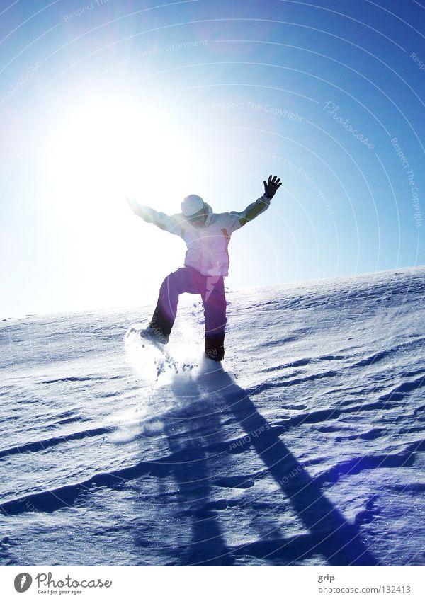 Sun Winter Joy Cold Snow Ice Skiing Hop