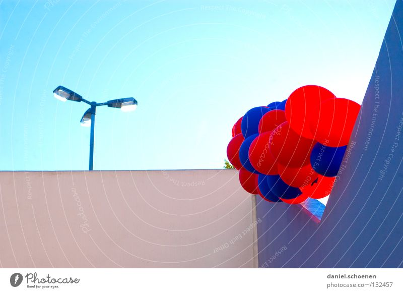 I've got another one. Balloon Party Cyan Red Light blue Back-light Detail Birthday Sky Sun Lighting Weather lamp. wall user meeting photocase