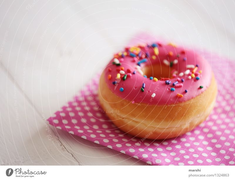 Emotions Eating Food photograph Moody Pink Nutrition Delicious Candy Dessert Chocolate Donut Calorie Tasty Granules Rich in calories
