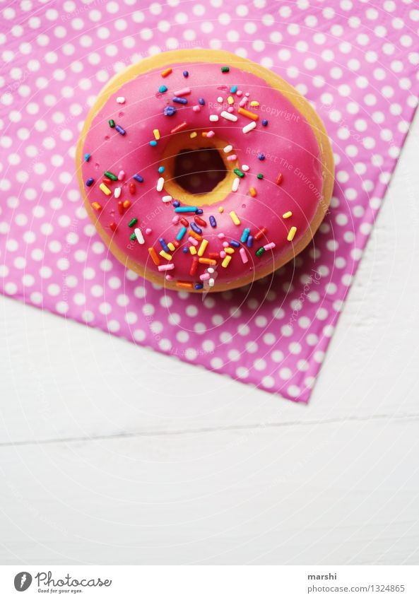 Emotions Eating Food Moody Pink Nutrition Sweet Candy Dessert Spotted Alluring Donut Calorie Serviette Granules Rich in calories