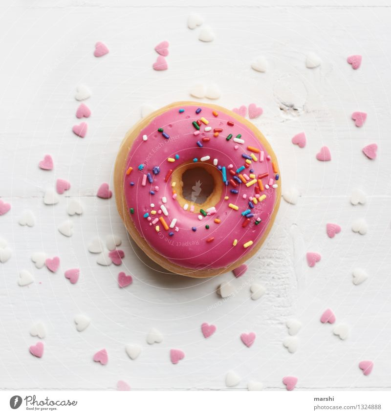 sweets for my sweets Food Dessert Candy Nutrition Eating Emotions Joy Happy Friendship Love Romance Infatuation Donut Alluring Valentine's Day
