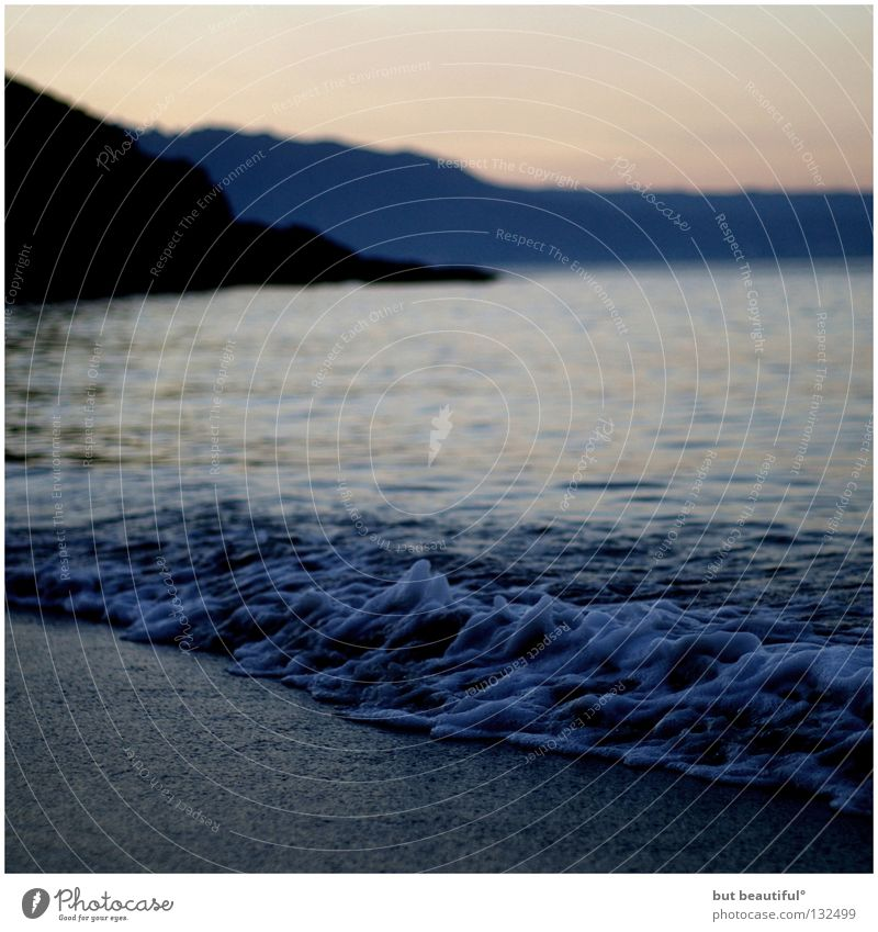 peace Ocean Waves Foam Coast Beach Summer Vacation & Travel Spain Longing Calm Loneliness Morning Costa da Morta Way of St James