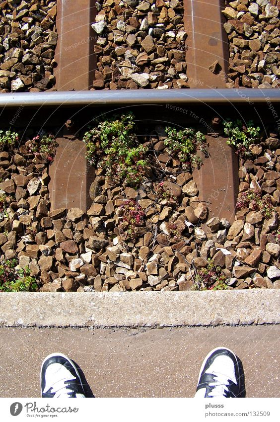 Life Death Stone Sadness Feet Think Footwear Wait Time Railroad Closed Empty Grief Stand End Anger