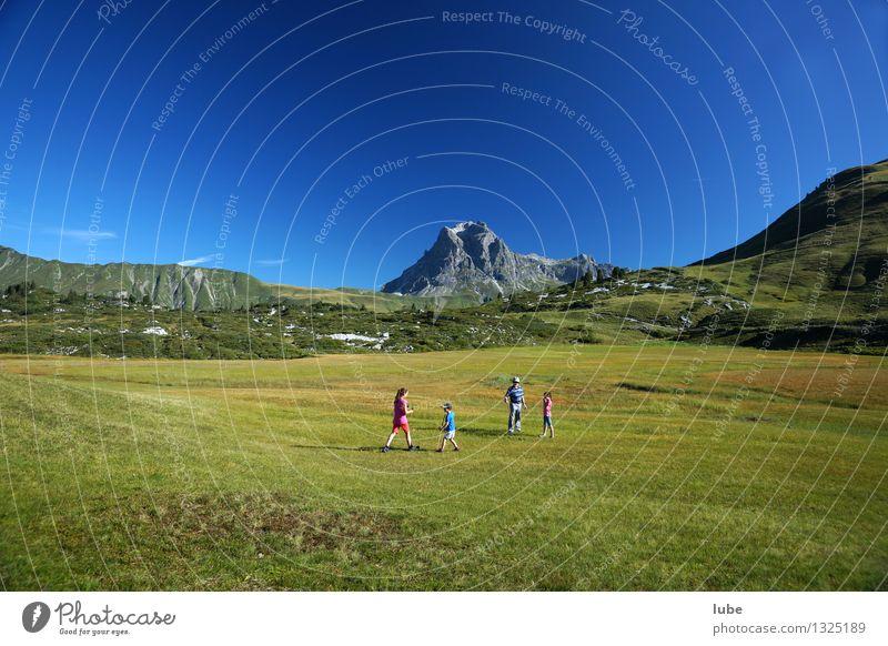 Ariestein 4 Human being Environment Nature Landscape Cloudless sky Summer Climate Beautiful weather Grass Rock Alps Mountain Peak Blue Green Forest of Bregenz