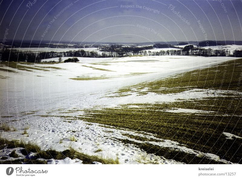 Sky Winter Calm Snow Landscape Field