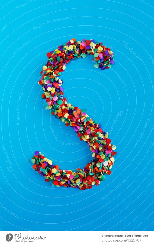 S Art Work of art Esthetic Letters (alphabet) Typography Alphabetical Confetti Design Design studio Creativity Idea Fashioned Handicraft Many Point Colour photo