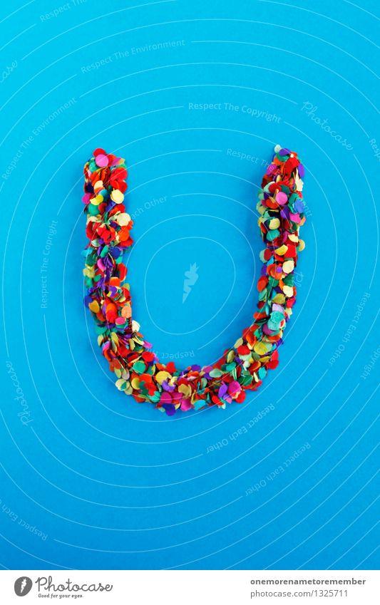 U Art Esthetic Letters (alphabet) Typography Alphabetical Blue Confetti Creativity Idea Design Many Multicoloured Home-made Fashioned Colour photo Interior shot