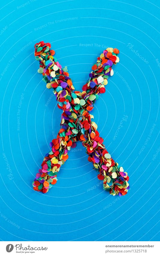 X Art Work of art Esthetic XXL Confetti Creativity Idea Design Blue Letters (alphabet) Typography Alphabetical Many Mosaic Multicoloured Colour photo
