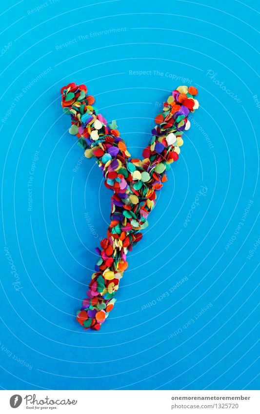 Y Art Work of art Esthetic y Letters (alphabet) Typography Alphabetical Confetti Many Point Multicoloured Colour photo Interior shot Experimental Abstract