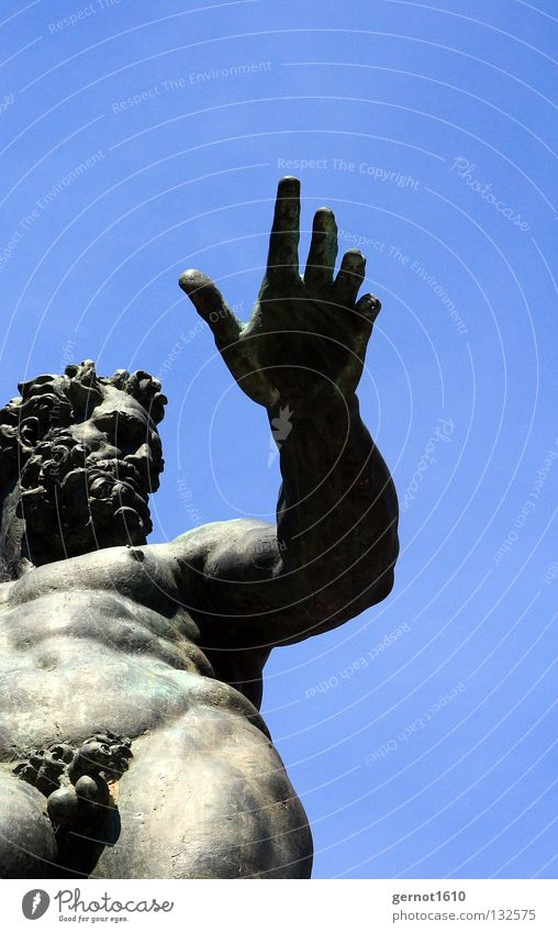 Neptune's Schniedel Statue Well Hand Facial hair Tails Naked Deities Heavenly Patina Self-confident Art Monument Ancient Old times Classic Arts and crafts