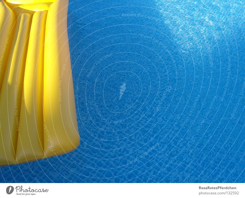 Water Blue Summer Joy Loneliness Yellow Swimming pool Summery Air mattress