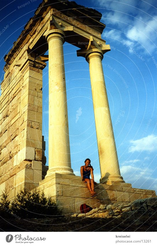 lethargic Vacation & Travel Cyprus Summer Ruin Temple Europe Sun Sky