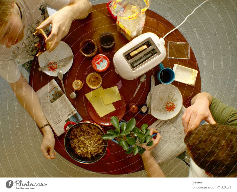 Nutrition Above Eating Together Table Coffee Round Kitchen Newspaper Breakfast Meal Cheese Media Food Electric kitchen appliance Toaster