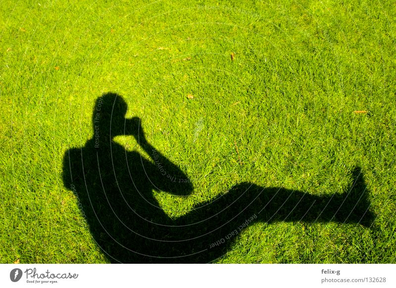 Human being Hand Sun Green Grass Legs Photography Lawn Camera Bright green Drop shadow